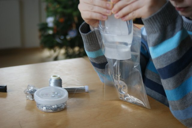 sensory bag winter zima